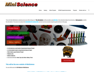 miniscience.com screenshot