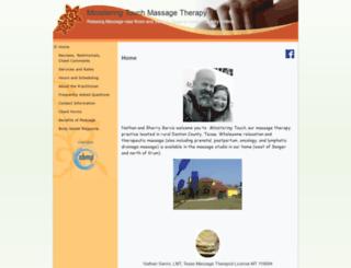 ministeringtouch.massagetherapy.com screenshot