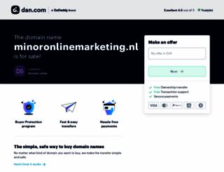minoronlinemarketing.nl screenshot