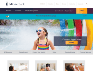 minsterbank.com screenshot