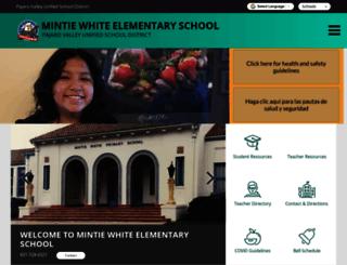 mintiewhite.pvusd.net screenshot