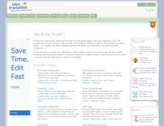 mintprintables.com screenshot