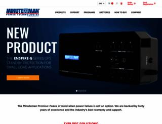 minutemanups.com screenshot
