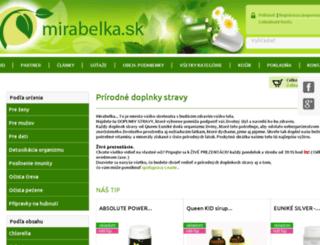 mirabelka.sk screenshot