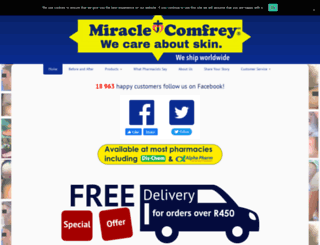 miraclecomfrey.com screenshot