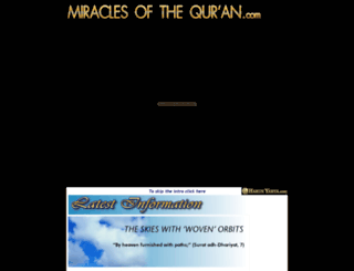 miraclesofthequran.com screenshot