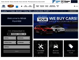 mirakhyundai.com screenshot