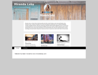 mirandaluby.writersresidence.com screenshot