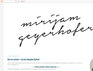 mirijam.blogspot.se screenshot
