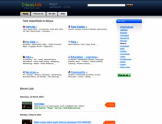 mirpur.chaosads.pk screenshot