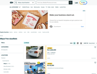 mirpur.olx.com.pk screenshot