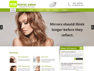 mirrorsalon.co.in screenshot