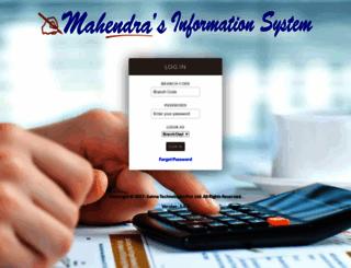 mis.mahendras.org screenshot