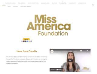 missamericafoundation.org screenshot
