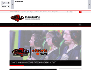 misshsaa.com screenshot