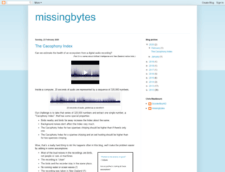 missingbytes.blogspot.com screenshot