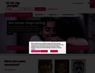 missingpeople.org.uk screenshot