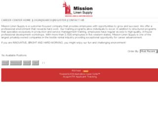 missionlinen.acquiretm.com screenshot
