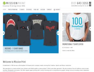 missionprint.co.uk screenshot