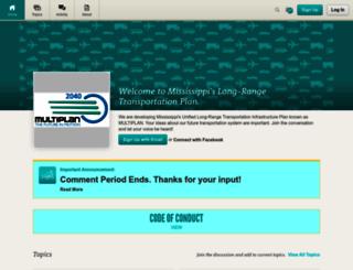 mississippitransportationplan.mindmixer.com screenshot
