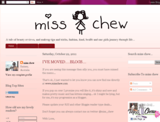 missjchew.blogspot.com screenshot