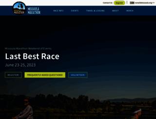 missoulamarathon.org screenshot