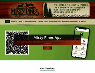mistypinesdogpark.com screenshot