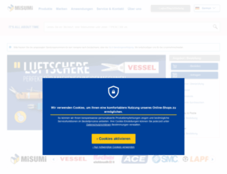 misumi-europe.com screenshot