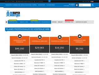 misuperhosting.com.co screenshot
