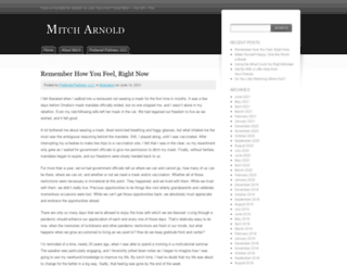 mitcharnold.wordpress.com screenshot