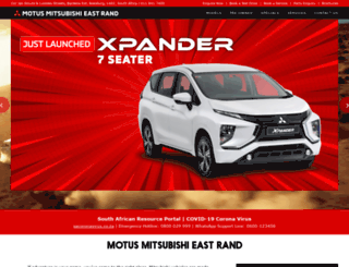 mitsubishi-eastrand.co.za screenshot