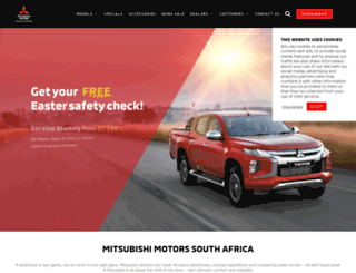 mitsubishi-motors.co.za screenshot