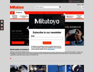 mitutoyo.co.uk screenshot