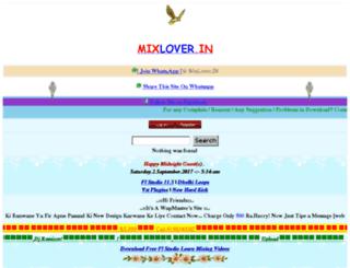 mixlover.in screenshot