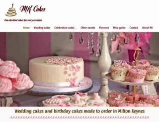 mkcakes.co.uk screenshot