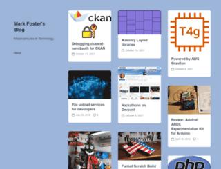 mkfoster.com screenshot