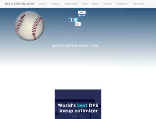 mlbstartingnine.com screenshot