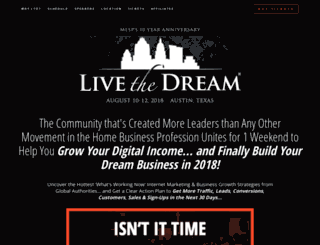 mlsp.livethedreamevent.com screenshot