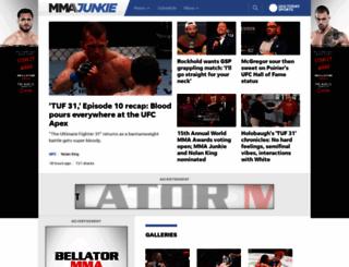 mmajunkie.com screenshot