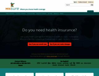 mnsure.org screenshot