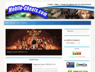 mobile-cheats.com screenshot