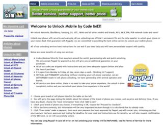 mobile-unlock.net screenshot