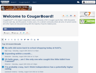 mobile.cougarboard.com screenshot