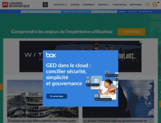 mobile.lemondeinformatique.fr screenshot