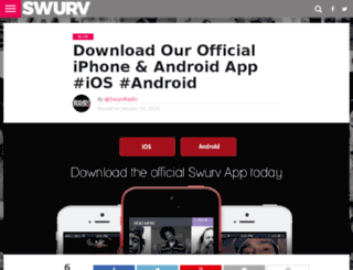 mobile.swurvradio.com screenshot