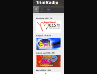 mobile.triniradio.net screenshot