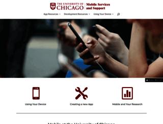 mobile.uchicago.edu screenshot