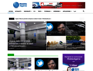 mobilealgerie.com screenshot