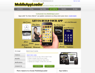 mobileapploader.com screenshot