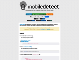mobiledetect.net screenshot